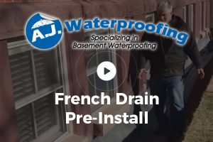 French Drain Pre-Install