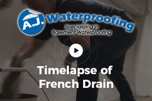 Timelapse of French Drain