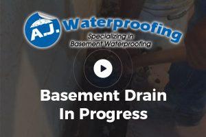 Basement Drain in Progress