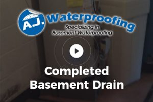 Completed Basement Drain