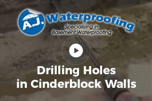 Drilling Holes in Cinderblock Wall