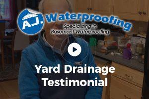 Yard Drainage Testimonial