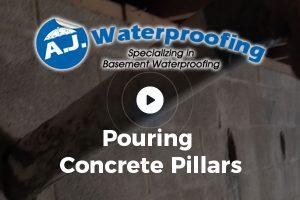 Pouring Concrete Pillars